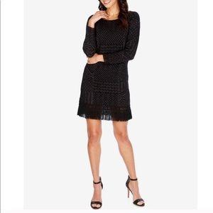 Lucky Brand fringe knit sweater dress